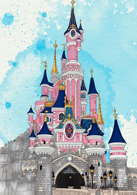 Sleeping Beauty Castle On Blue Etsy In 2021 Sleeping Beauty Castle Disneyland Sleeping Beauty Castle Sleeping Beauty