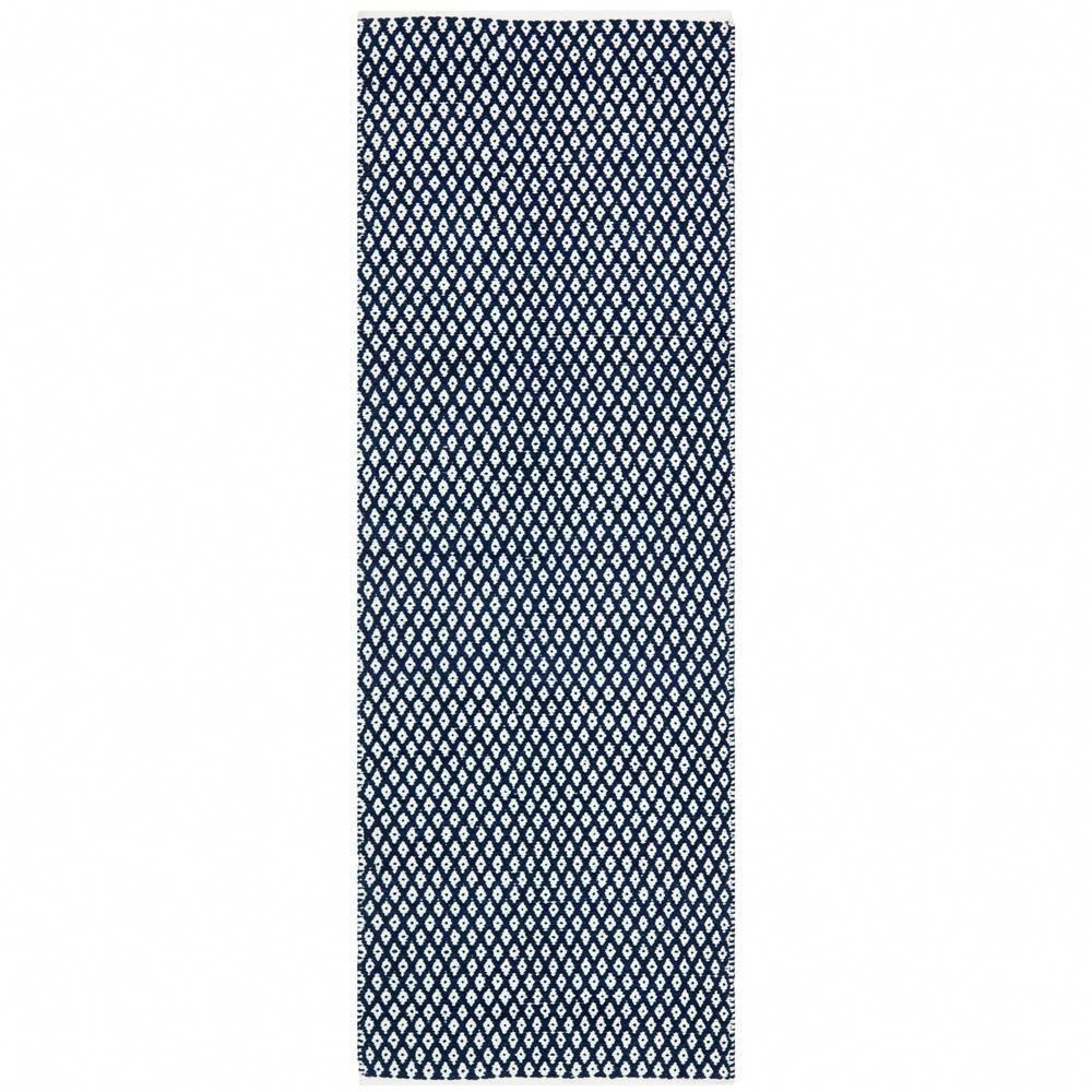 Safavieh Boston Navy 2 Ft X 11 Ft Runner Rug Bos685d 211 The Home Depot Geometric Flatweave Navy Cotton Rug Cotton Area Rug