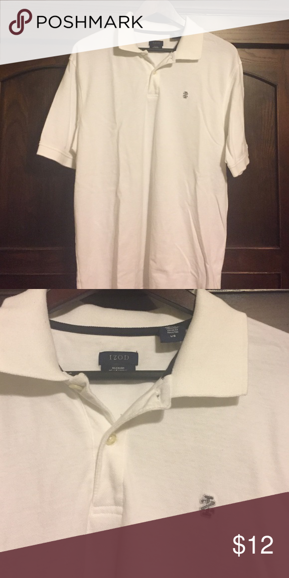 Men's white Izod polo shirt Classic white polo shirt from Izod that will make a great addition to any man's wardrobe. Izod Shirts Polos