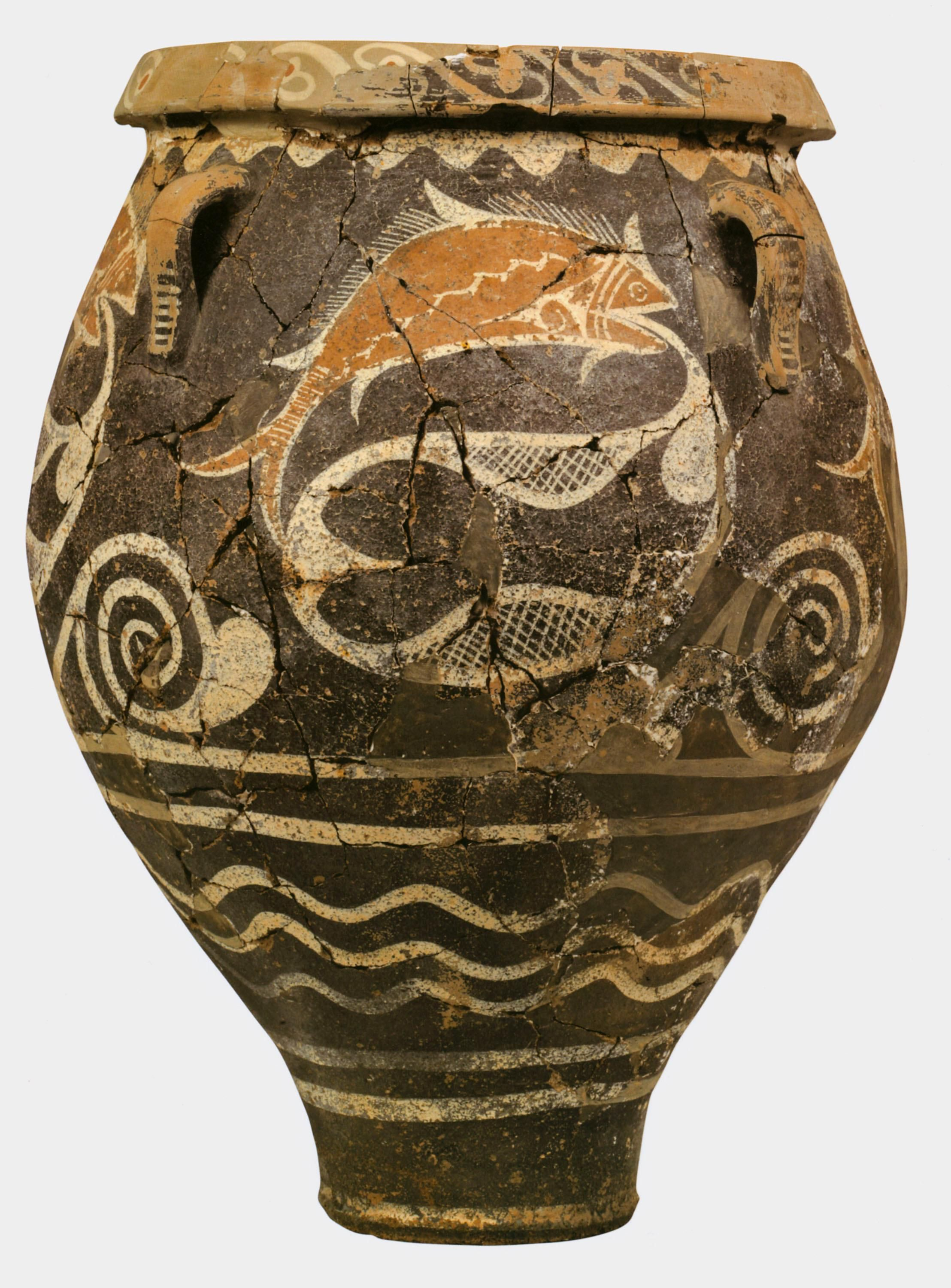 Ca 1800 1700 bce kamares ware has been found throughout the the prehistoric aegean kamares ware jar from phaistos crete greece ca reviewsmspy