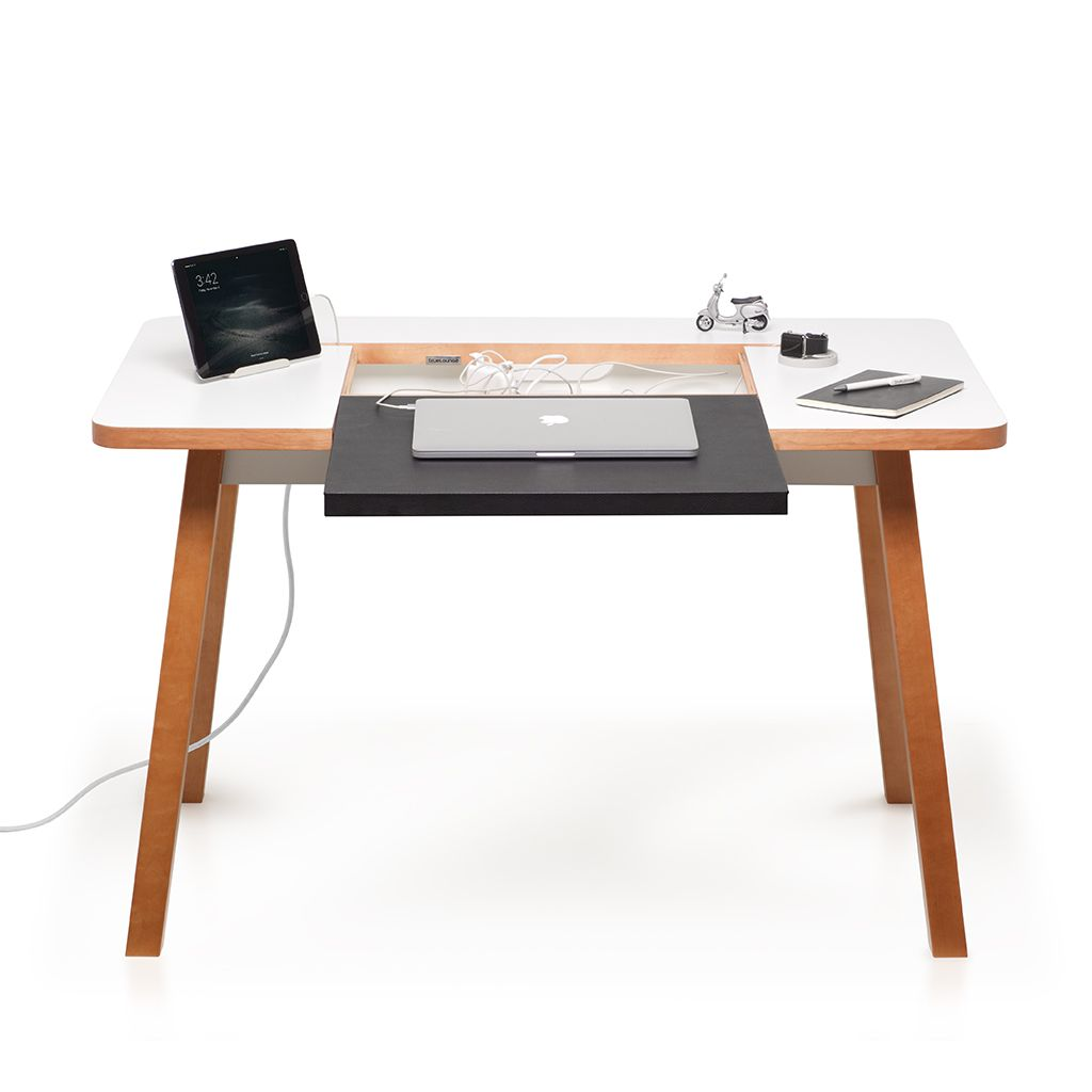 Studio Desk From Bluelounge Is A Compact Modern Desk In Timeless  # Muebles Sixbros