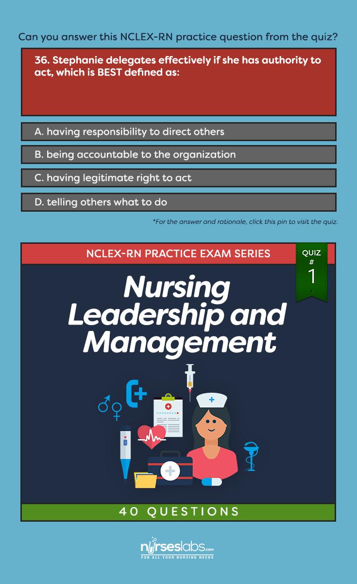 Quiz 1 Nursing Leadership & Management NCLEX Exam (40