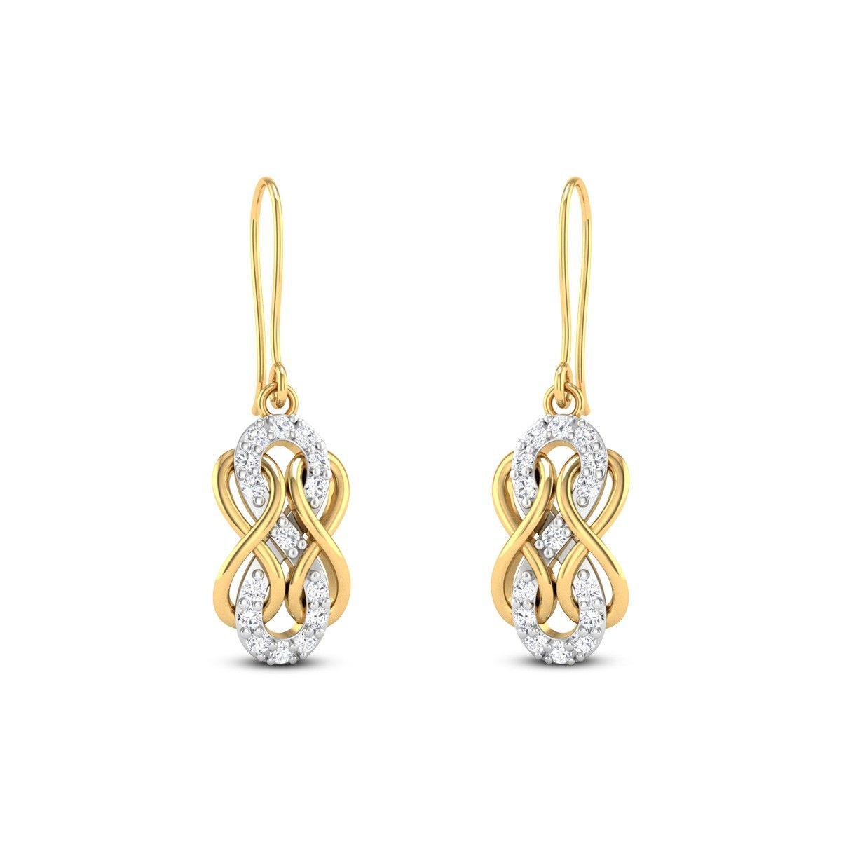 Cornaro Diamond Studded Gold Earrings