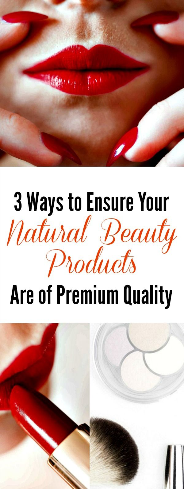 "How do you know if your natural beauty products are really ""natural"" or ""safe""? These days there is a real fear that natural beauty products and what they claim will happen are too good to be true. Ingredients may not be sourced properly or be natural at all — ""All natural"" says the bottle, but the ingredients list reads differently. Manufacturers may not follow ethical standards — Is the manufacturer conducting animal testing? 3 Ways to Ensure Your Natural Beauty Products Are of Premium…"