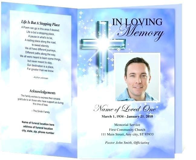 Memorial Service Invitation Template Free Tsvaga Pagoogle