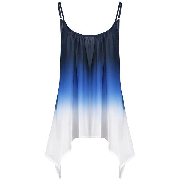 f80271bf142 Plus Size Chiffon Handkerchief Ombre Cami Top ( 12) ❤ liked on Polyvore  featuring tops