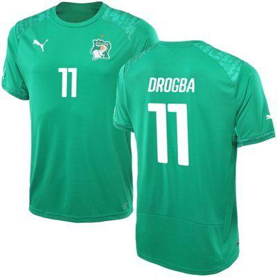 051e3d1c6 ... World Cup Soccer Team Merchandise. Ivory Coast away jersey of  Drogba.   Puma brand.