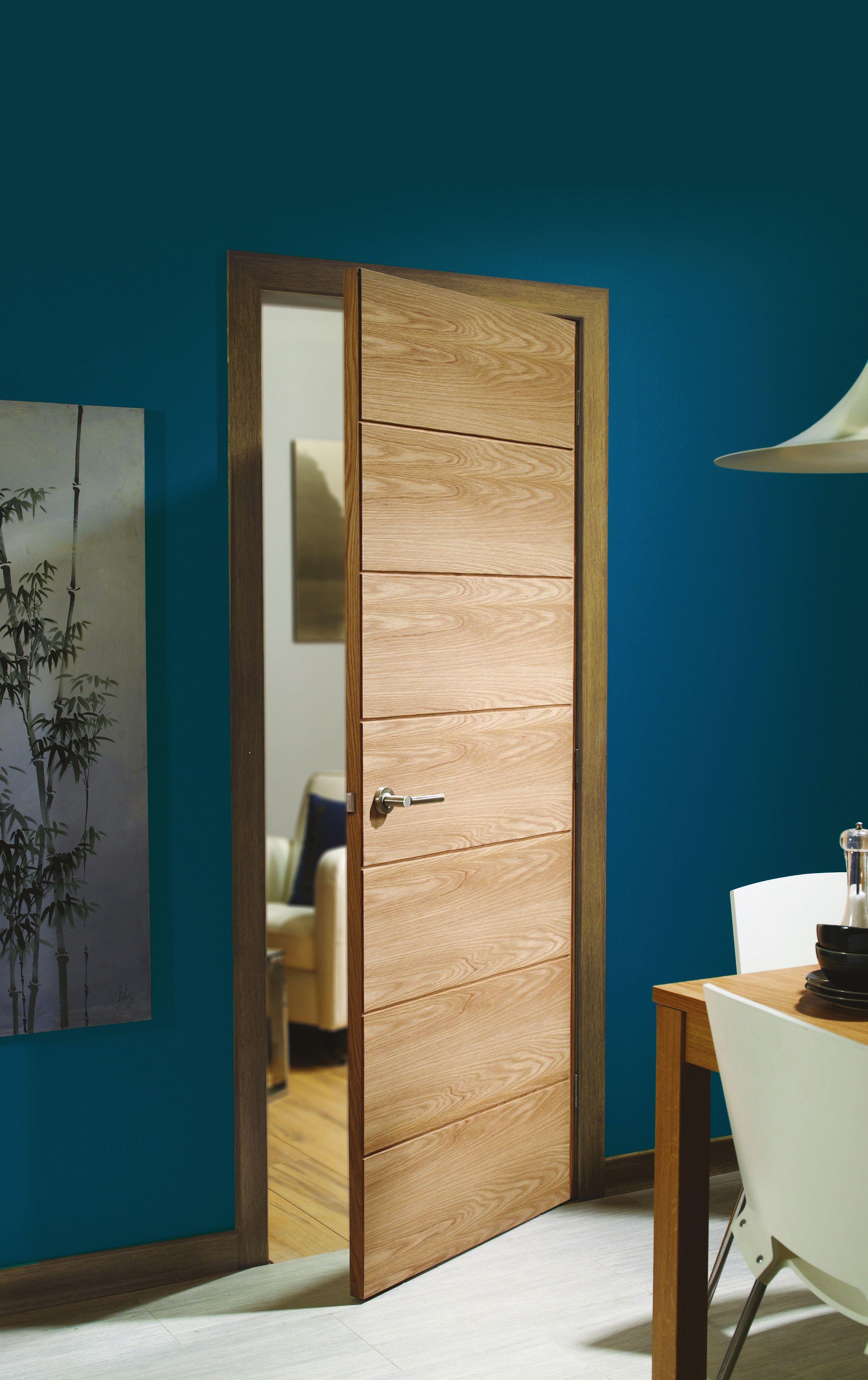 The Oak Savona Is A Horizontally 7 Panelled Veneered Door Suble Panel Design