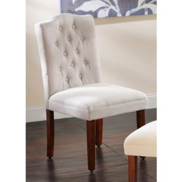 Tufted Gray Linen Parsons Chair Parsons Chairs Chair