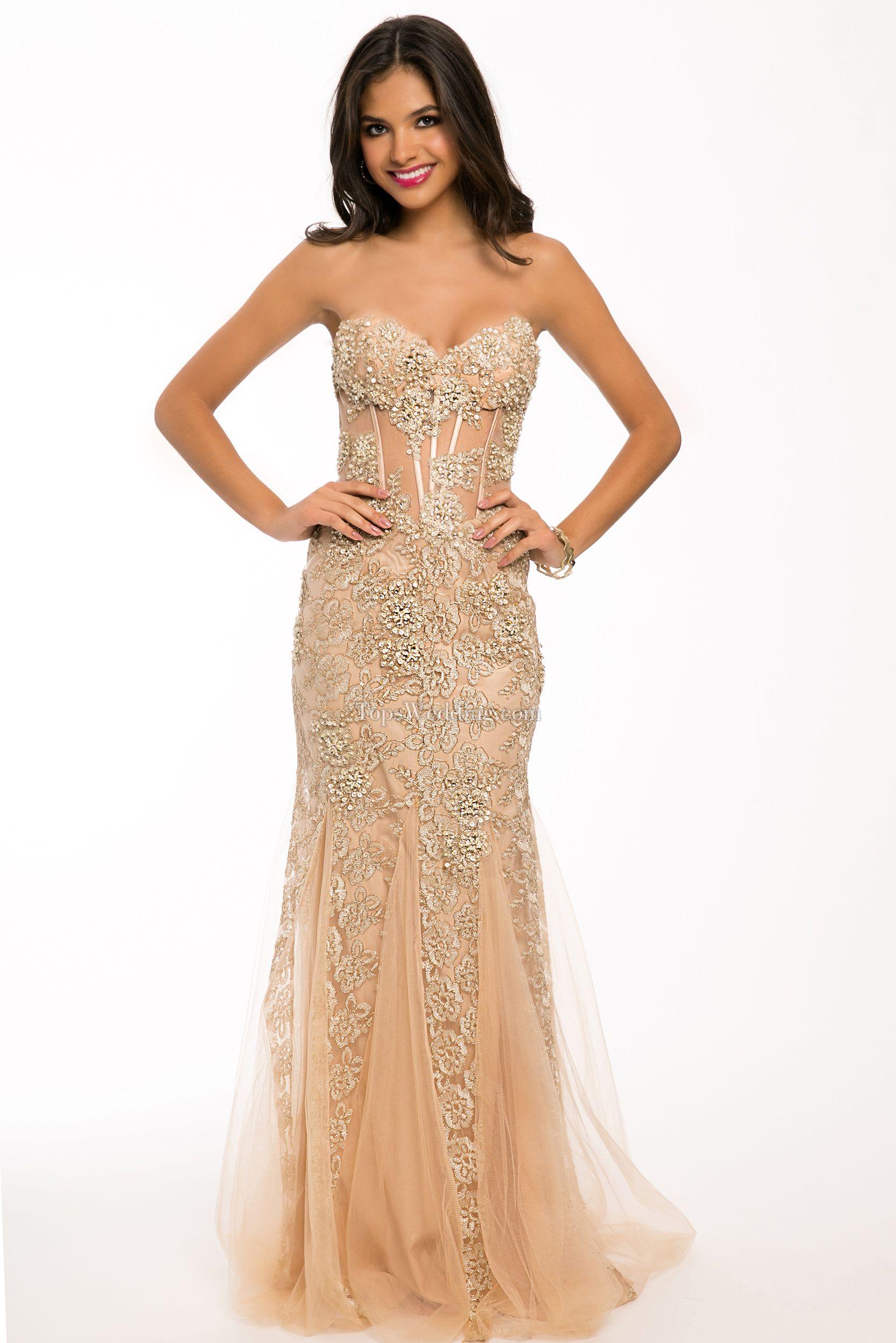 Vestido De Fiesta Color Champagne In 2019 Prom Dresses