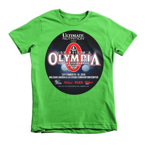 0a64927fb40bb Kid's 2016 Joe Weider's Olympia Classic Tee - Full Color Logo ...