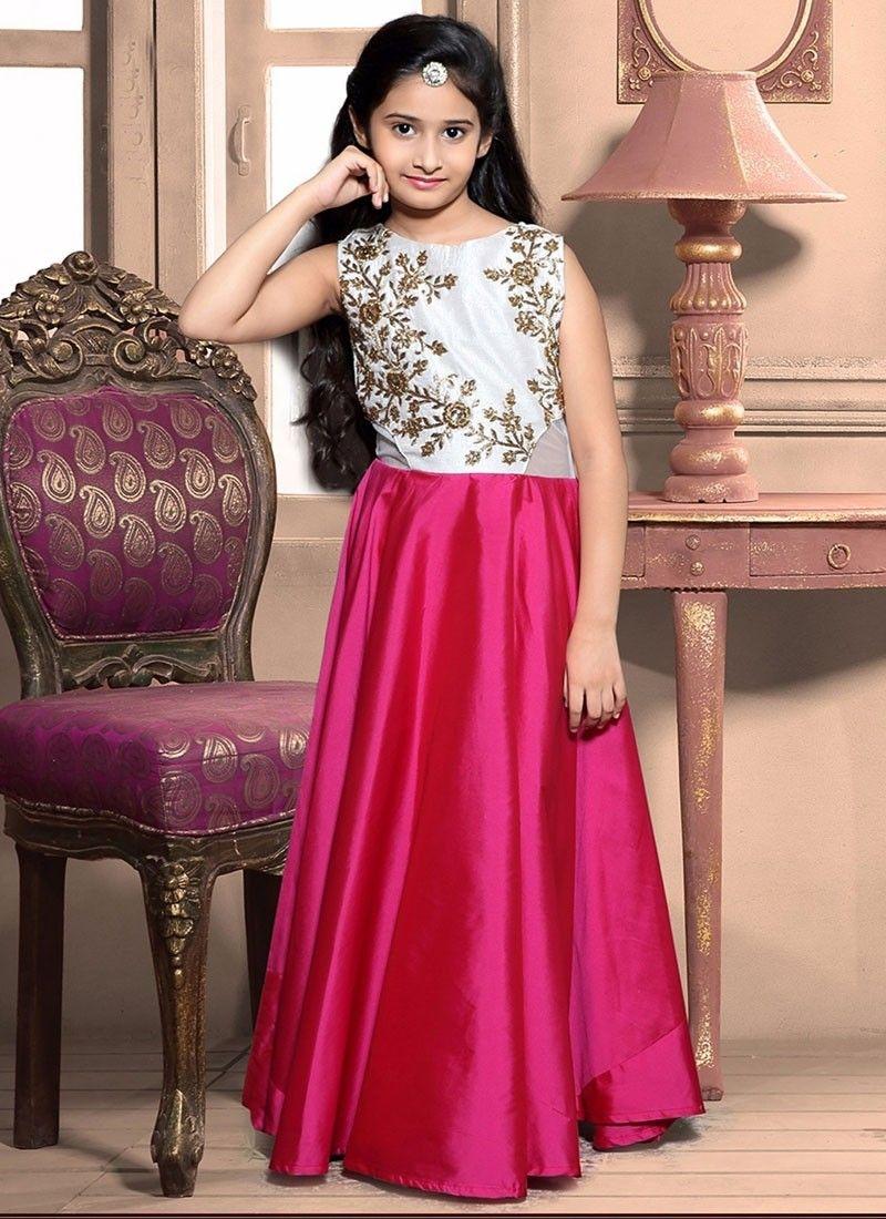 Pink Taffeta Gown Designer