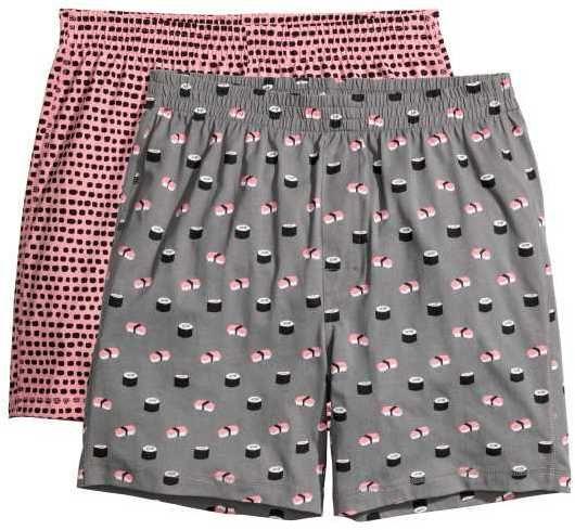 H M - 2-pack Pajama Shorts - Gray sushi - Men  7b9742d47