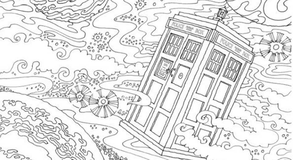 Doctor who coloring book for geeks jpg 950 520 for Geek coloring pages