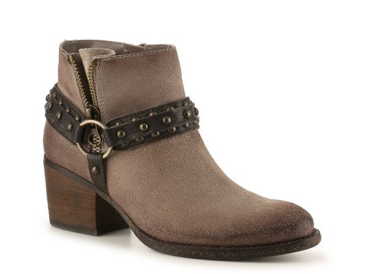 Women's Women Crown Vintage Wendy Western Bootie -Taupe/Brown - Taupe/Brown