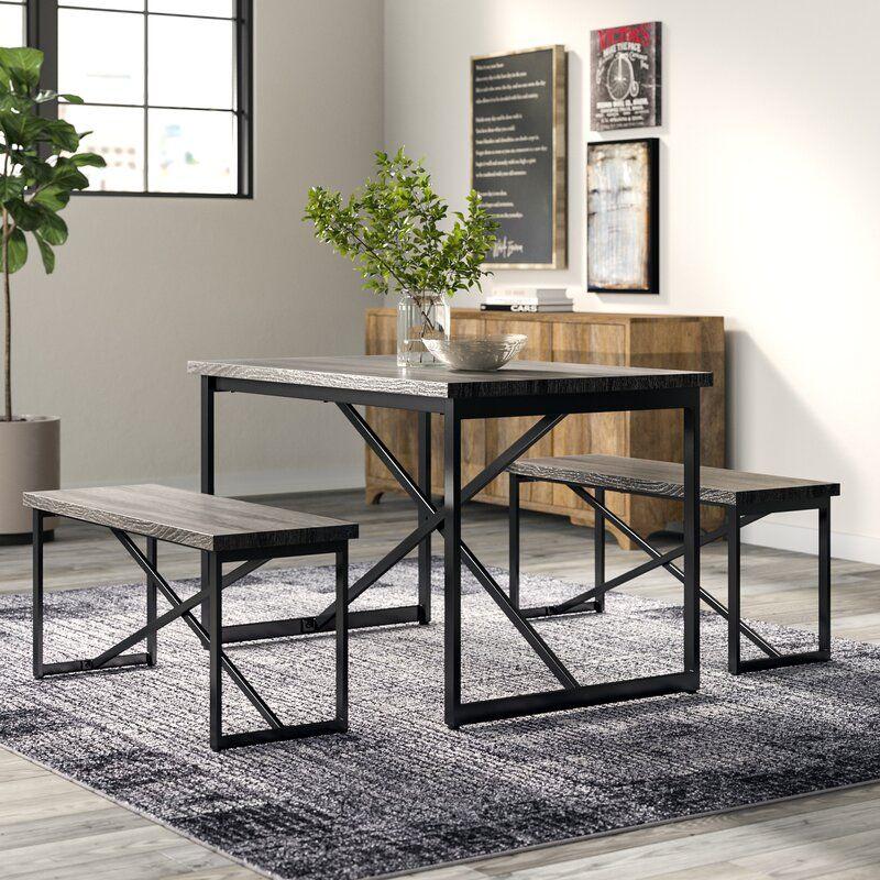 Bearden 3 Piece Dining Set | 3 piece dining set, Solid wood dining set, 5 piece dining set