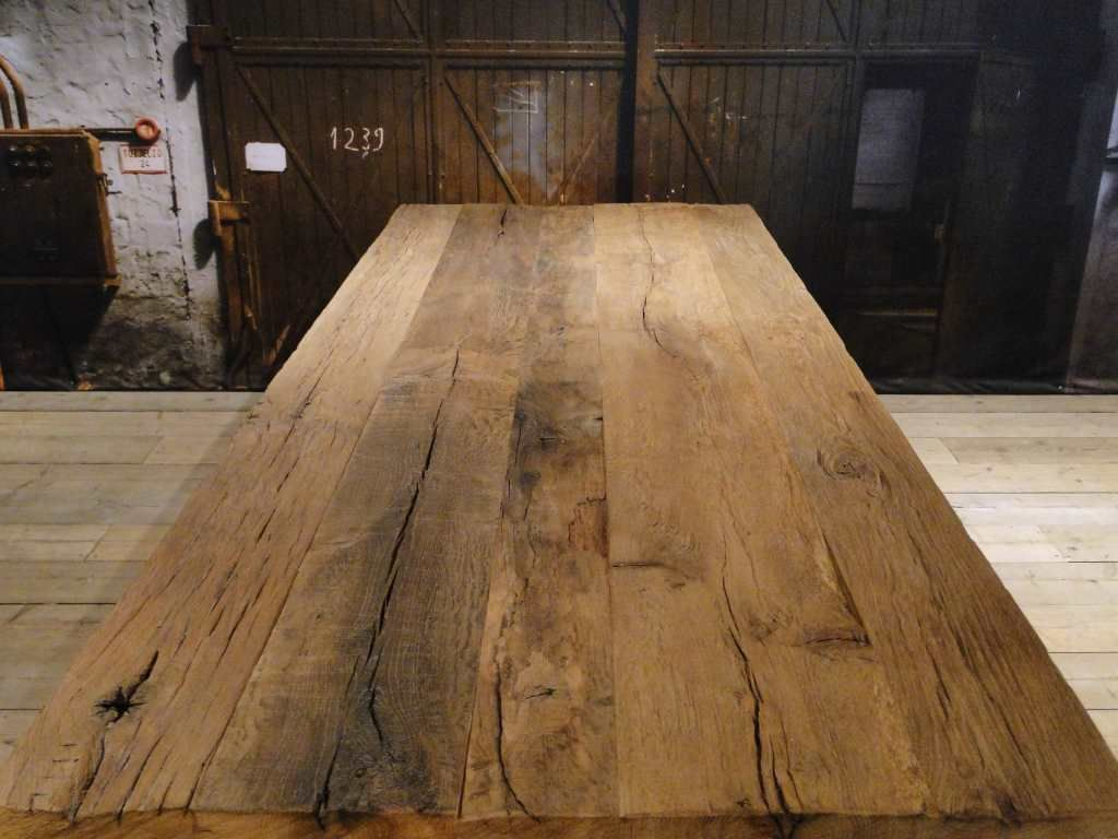 Industriele eettafel lugano massief eiken dining room pinterest
