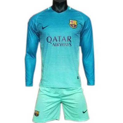 Tercera Equipacion Camiseta Barcelona Manga Larga 2016-2017 ... d78ec9bff8bbd
