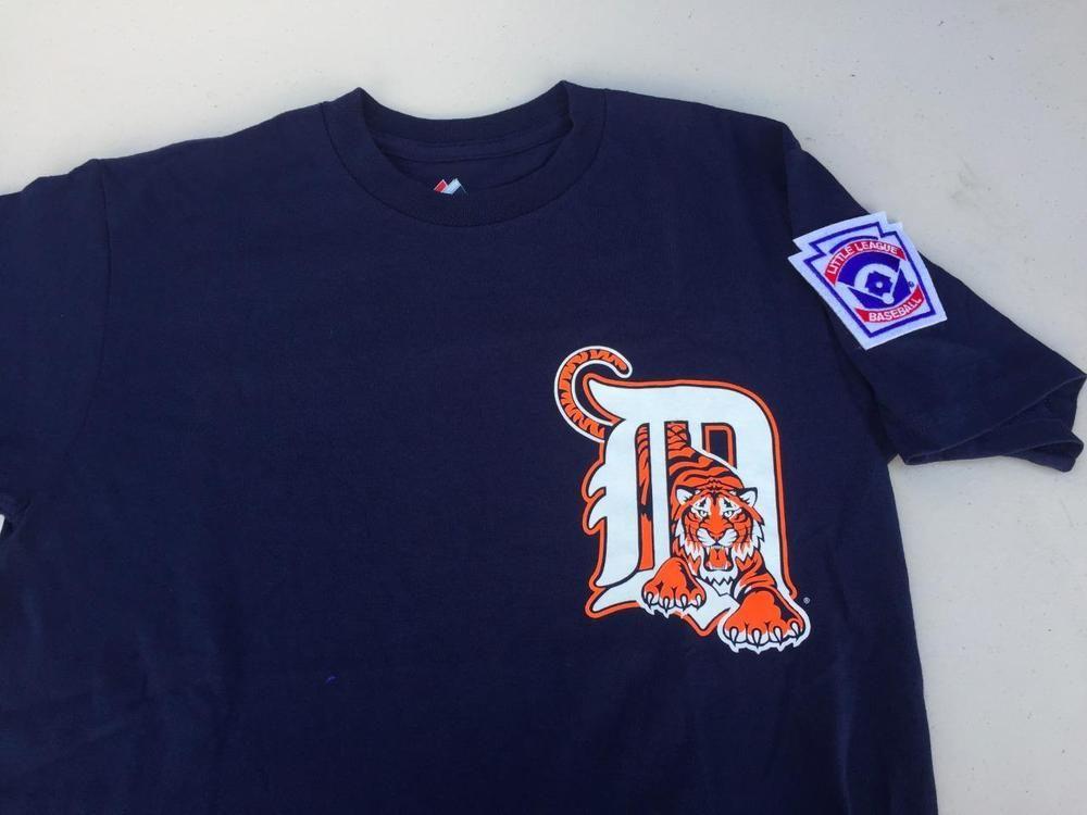 wholesale dealer cdbe1 192e9 Majestic DETROIT TIGERS MLB T-Shirt~COTTON~YOUTH Size MEDIUM ...