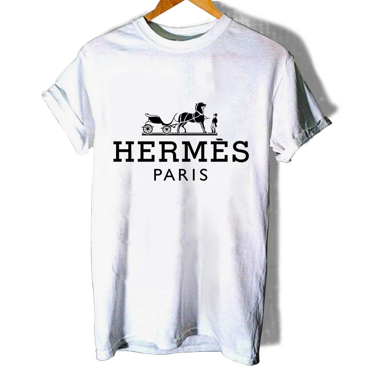 0c52c6d92e0f Hermes paris Logo T Shirt Women
