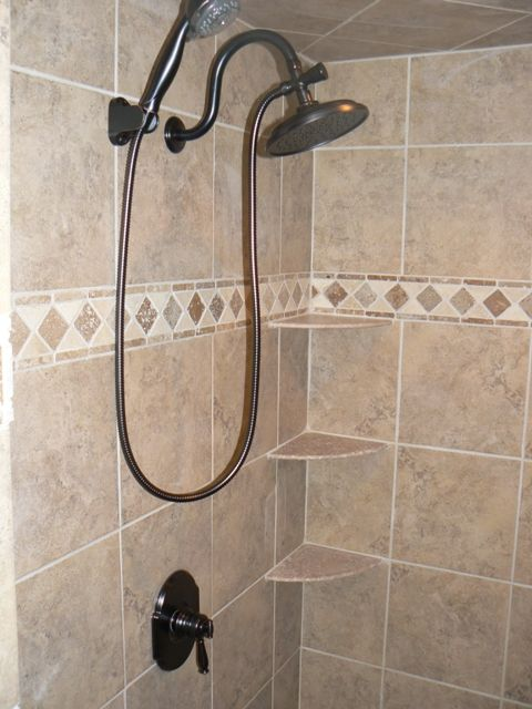 shower corner shelf tile home depot | Shower corner shelf, Corner