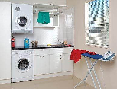 Laundry idea- change existing tub to sink with bench above washing ...