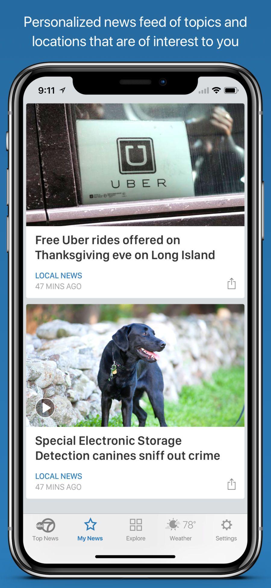 WABC Eyewitness News WeatherDigitalappsios Uber ride