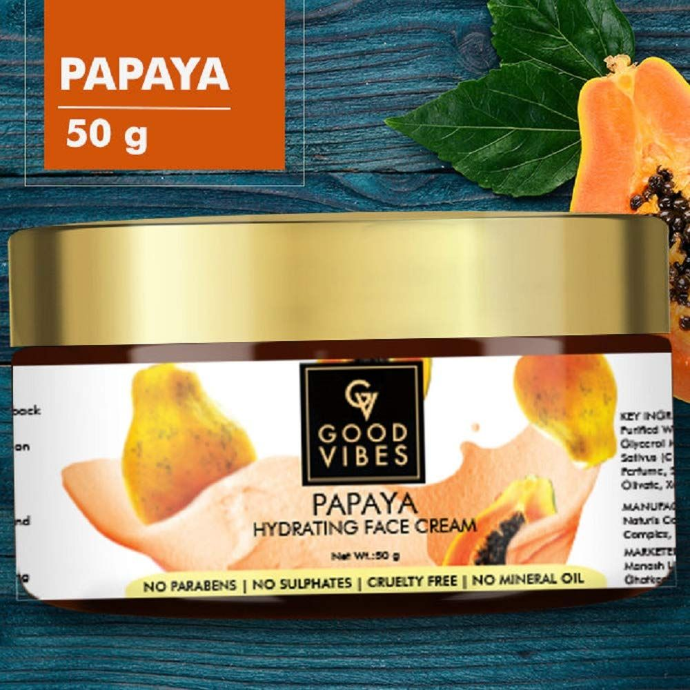 Good Vibes Papaya Hydrating Face Cream 50 g in 2020