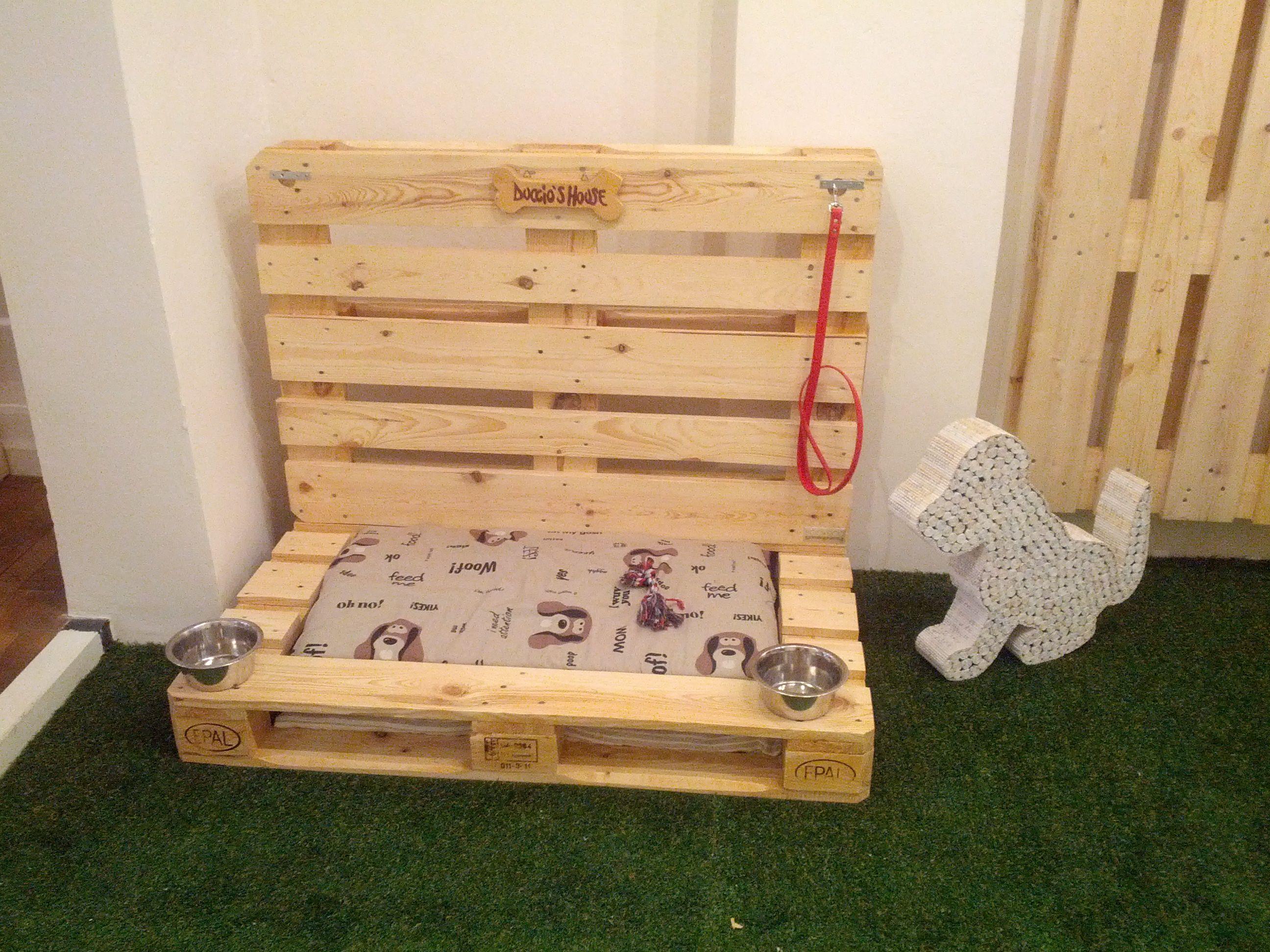 Cuccia per cani eco patibile by CONLEGNO baunews PalletCane Gatto