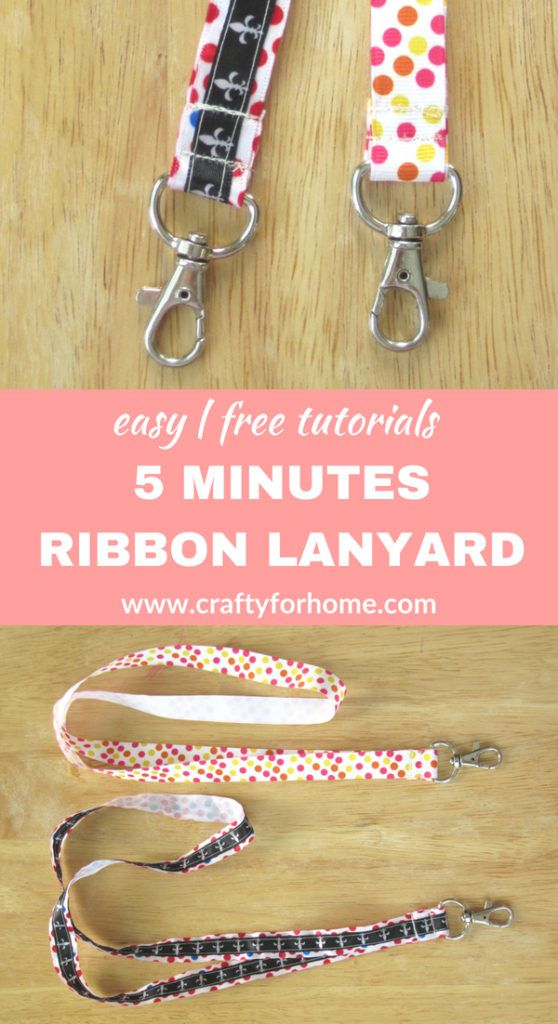 Easy Ribbon Lanyard #craftstomakeandsell