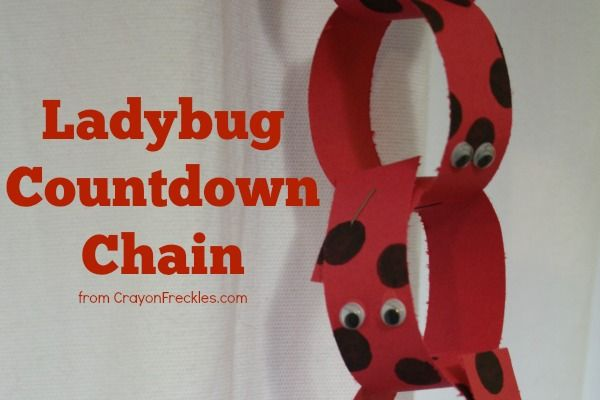 Crayon Freckles: Ladybug Countdown Chain. Very cute baby countdown idea for older siblings from @Andie Jaye from Crayon Freckles !