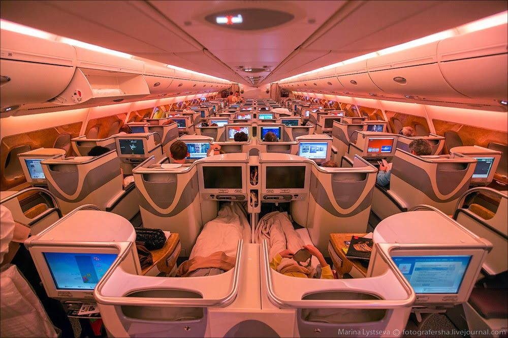 Flying on Emirates Airlines Business class A380 Emirates