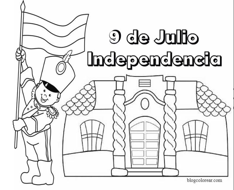 Dibujos Para Colorear 9 De Julio Dibujo Dia De La Independencia