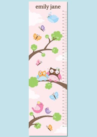 Personalized Owl Paper Growth Chart Hoot Hoot By Petitelemon 2999
