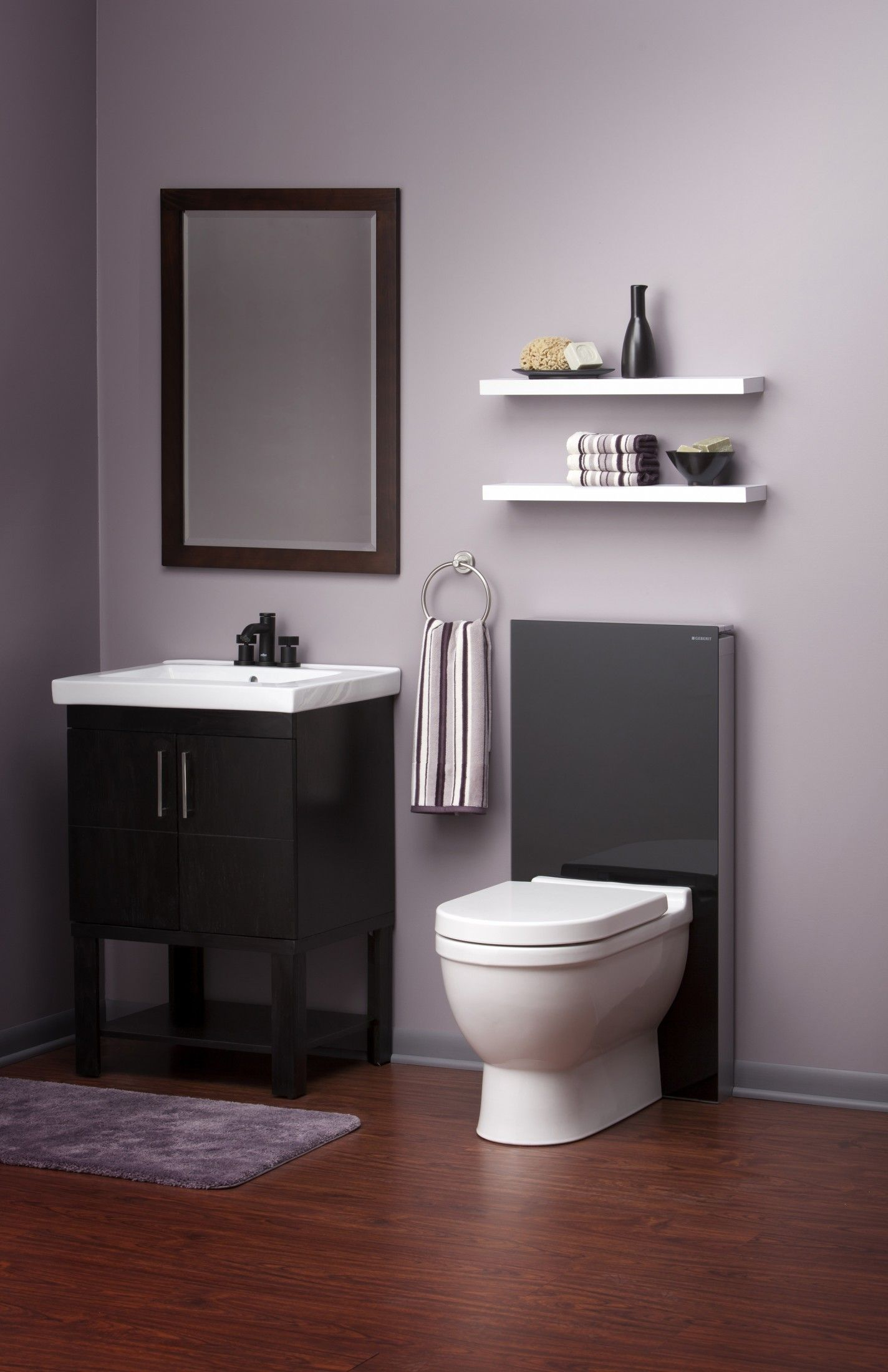 This Sleek Geberit Toilet System Gives This Bathroom Just