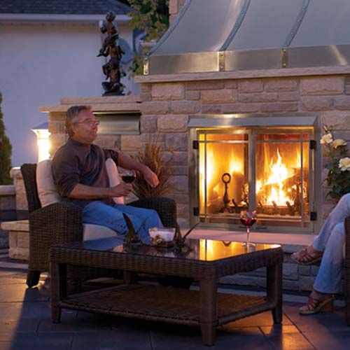 Napolean Outdoor Gas Fireplace Gss42 No Venting Required 35 3 4