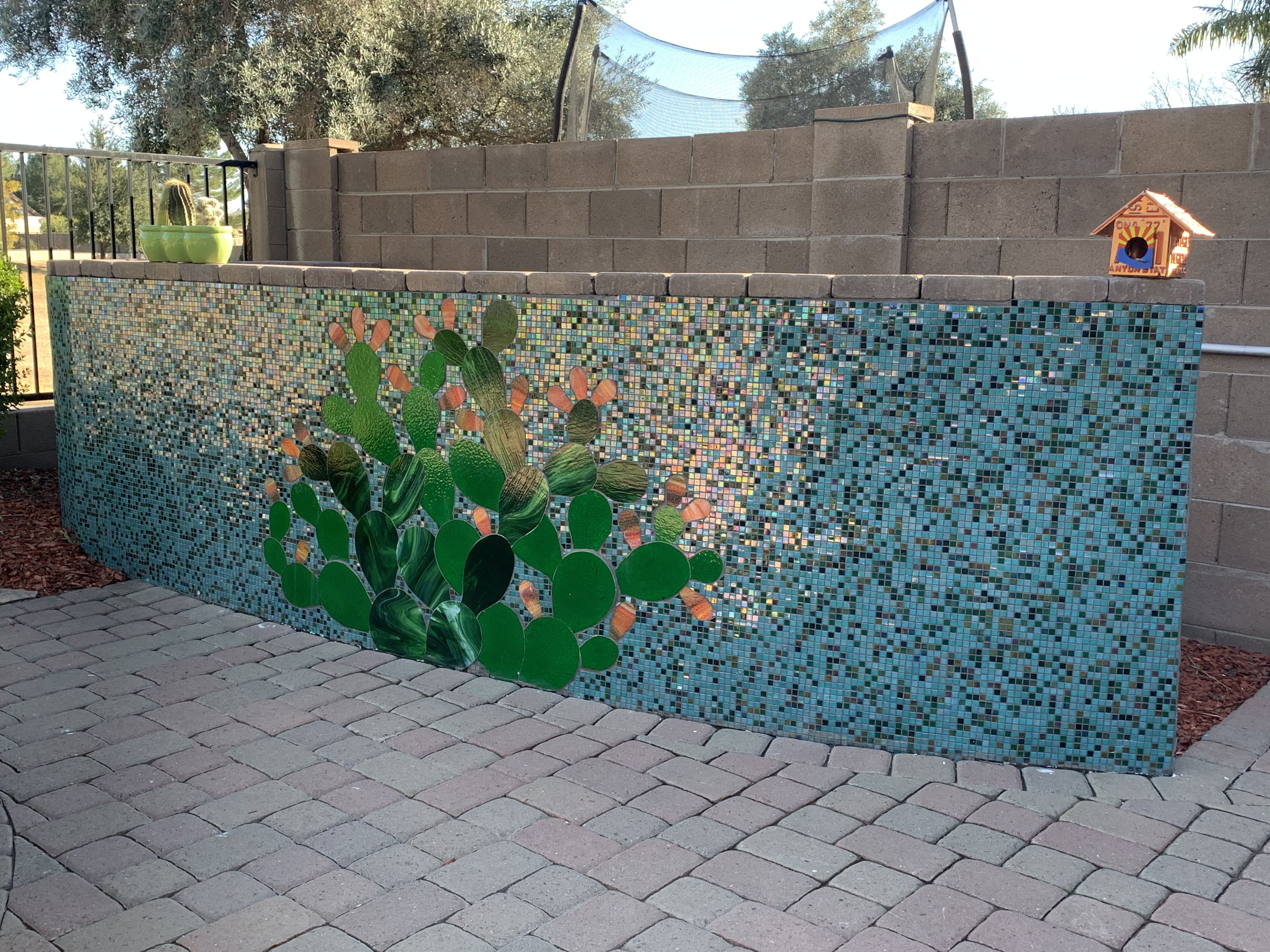 Stained Glass Tiled Wall In 2020 Mosaic Wall Mosaic Wall Art Stained Glass