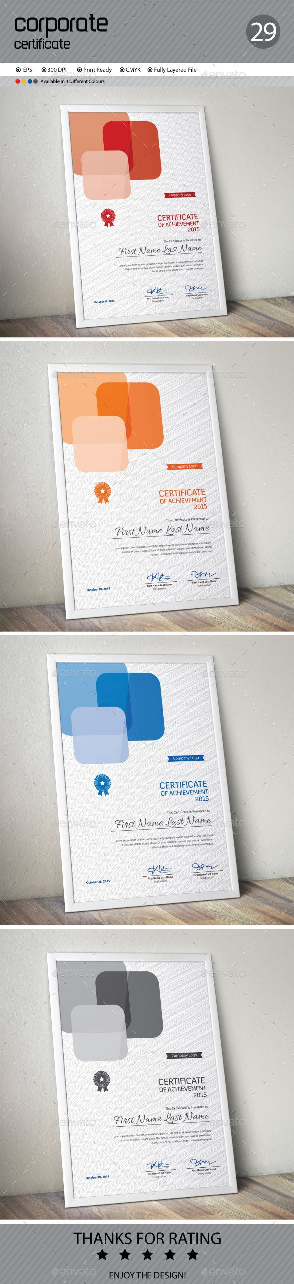 Certificate certificate templates certificate design and certificate template vector eps download here httpgraphicriver yadclub Image collections