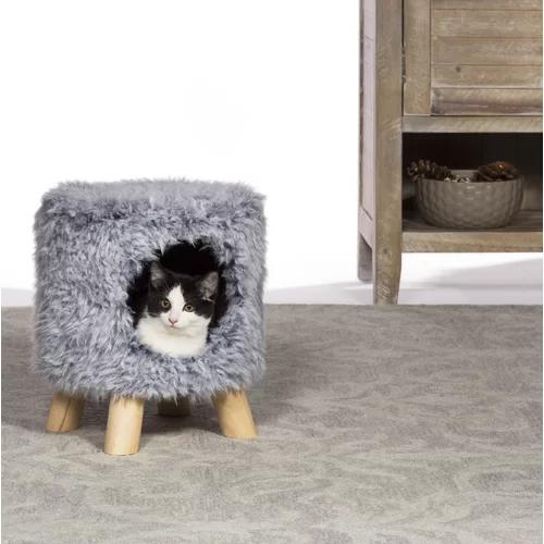 "14"" Boivin Kitty Power Paws Plush Cozy Cave Cat Condo"
