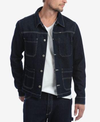 e45025c54291f Wrangler Men s Carpenter Denim Jacket - Blue XXL