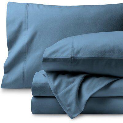 Bare Home Super Soft 100 Cotton Flannel Sheet Set Size Twin Xl Color Coronet Blue Flannel Bed Sheets Flannel Sheet Sets