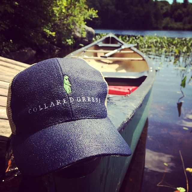 Jumping in the lake, coolin' off, the American Way, featuring the Collared Greens Trucker Hat. #summerdays #AmericanMade