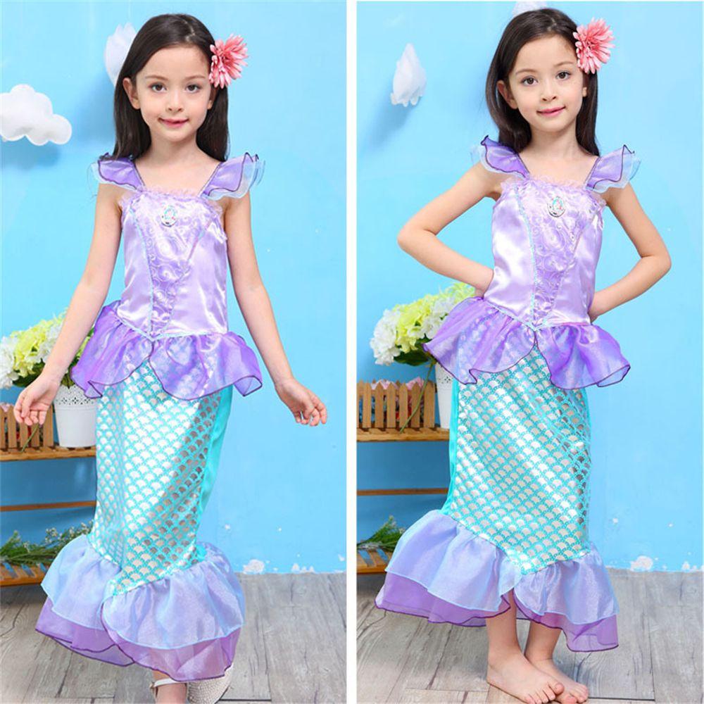 Click to Buy << 2017 Summer Baby Girl Princess Dresses Cosplay ...