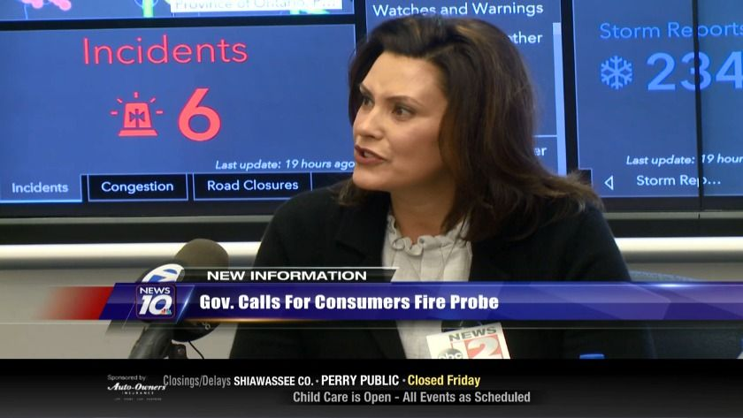 Gov Calls For Fire Investigation Wilx Tv Gov Calls For Fire Investigationwilx Tv Governor Gretchen Whitmer Is Calling For A Statewide Energy Infrastructure