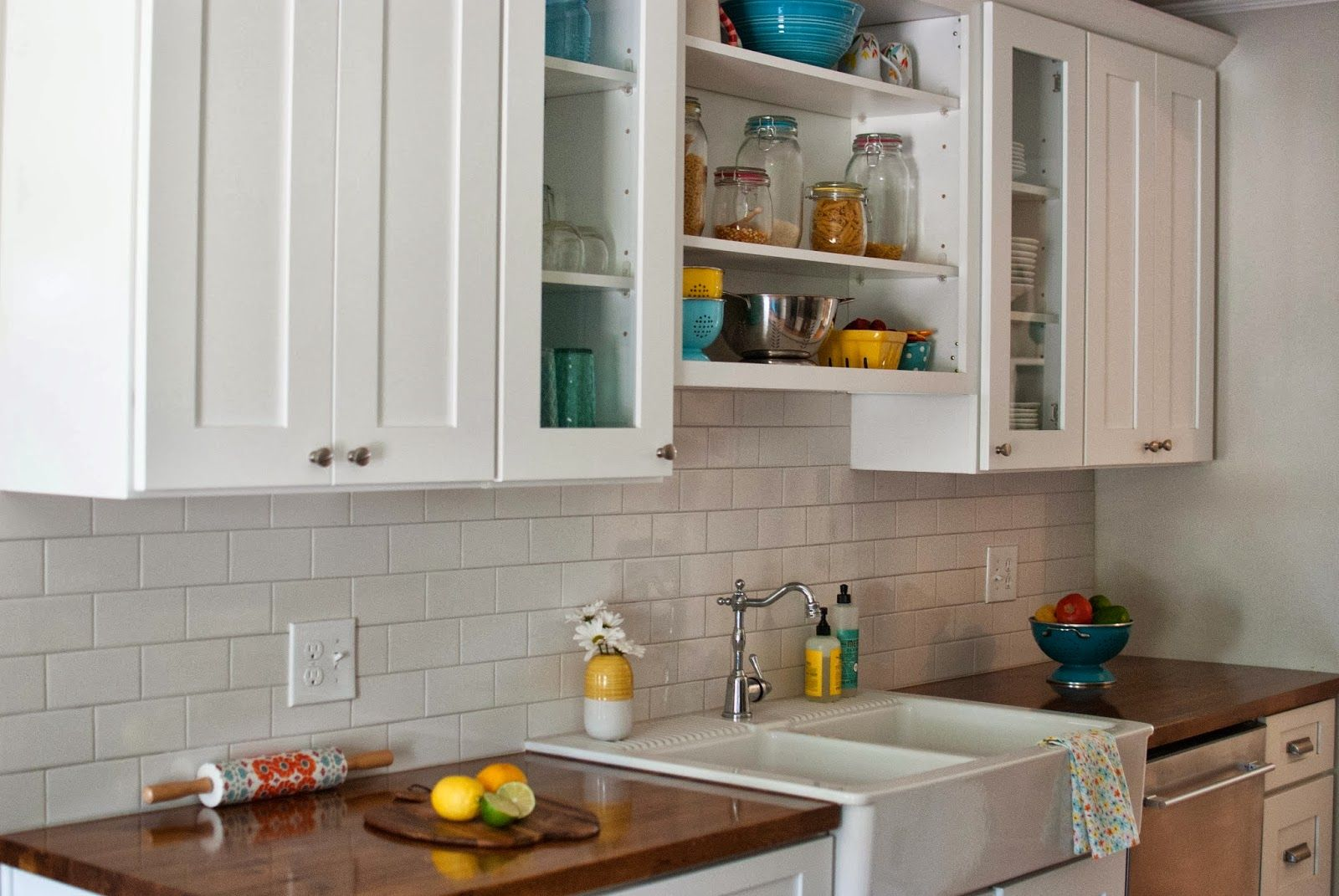 white subway tile backsplash butcher block counters google white subway tile backsplash butcher block counters google search