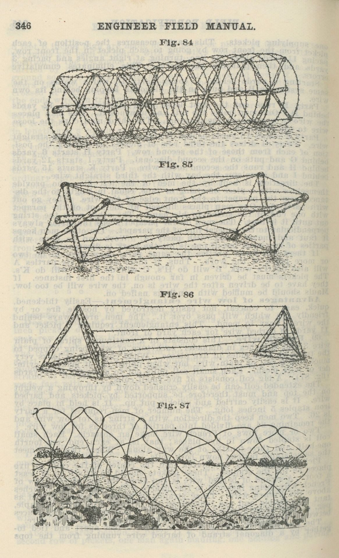 barbed wire low wire entanglements from engineer field manual pts rh pinterest com Army Field Manual 3 24 U.S. Army Field Manual 21 20
