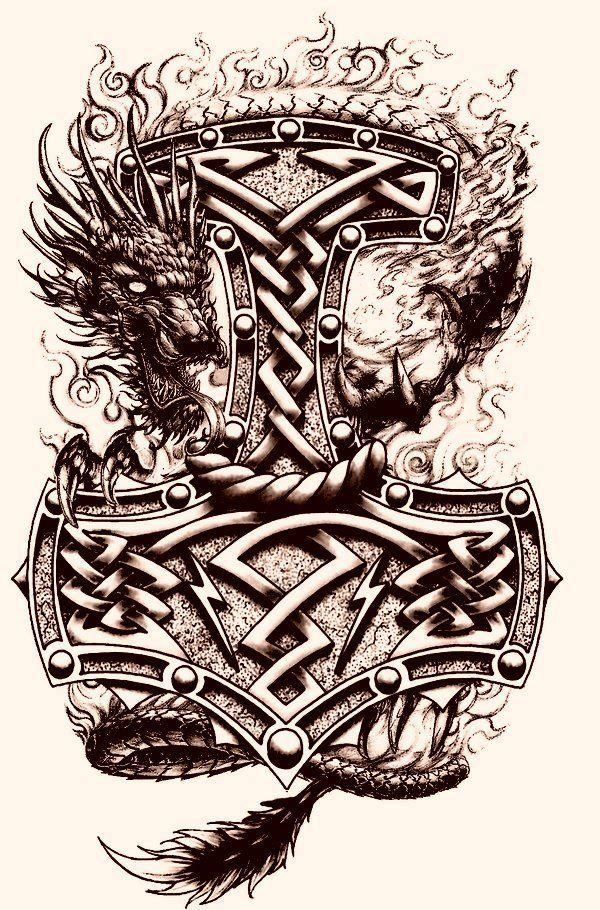 Hammer Thor And Work Viking Viking White Knot Black Black Work White Knot Hamme Thor And