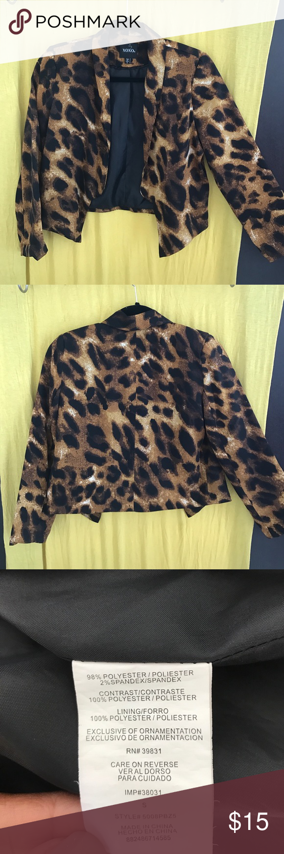 Blazer Cute animal print blazer! XOXO Jackets & Coats Blazers