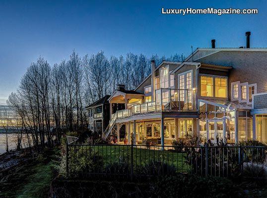 Luxury Home Magazine Vancouver | SW Washington #Luxury #Homes #Windows  #Balcony #River #Properties