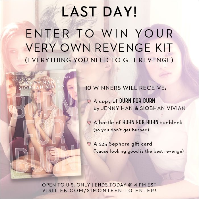 Enter to win your very own #BurnForBurn revenge kit - including a Sephora gift card!